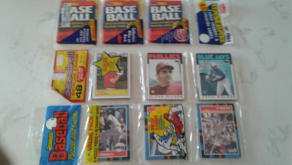3 Rack Packs #x27;86 Topps Fielder RC top #x27;86 Fleer triple wax #x27;88 Donruss $25.00