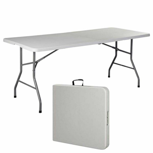 6#x27; Folding Table Portable Plastic Indoor Outdoor Picnic Party Dining Camp Tables $29.99