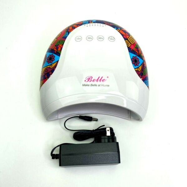 Belle UV LED Nail Lamp Tribal Print Dryer With Touch Sensor 4 Timers Buttons 48W $30.97