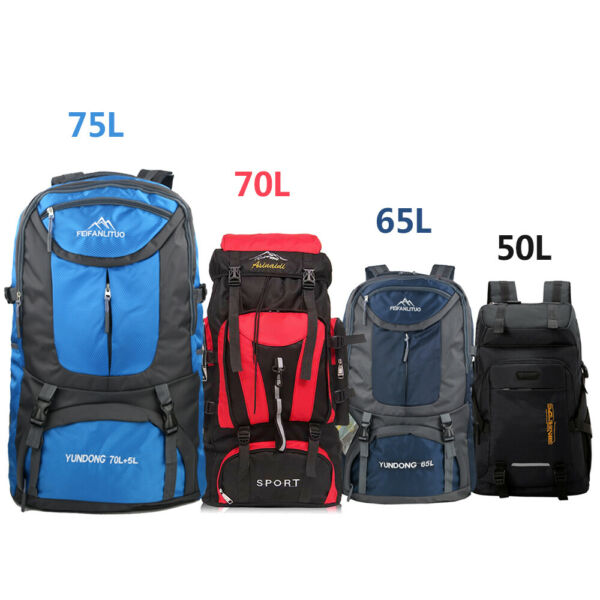 Waterproof Camping Backpack Hiking Shoulder Bag Outdoor Travel Rucksack 50 75L $20.97