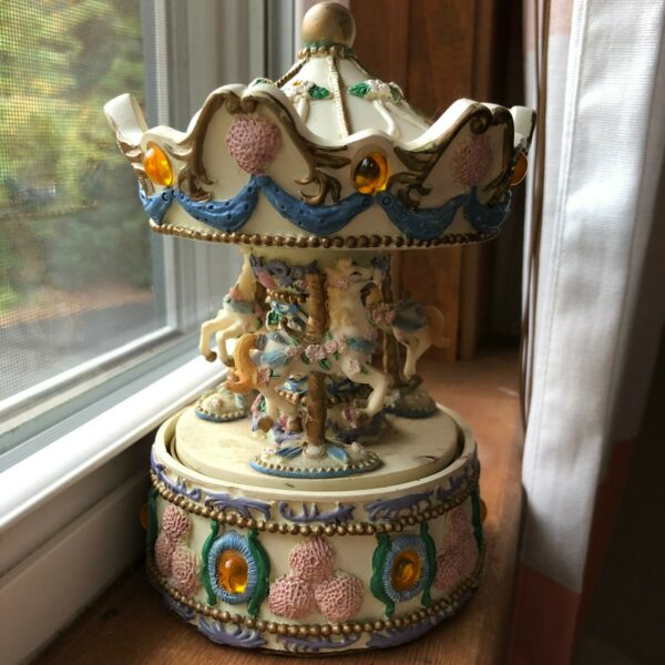 Vintage Musical Carousel November Birthstone By Eastern Gateways