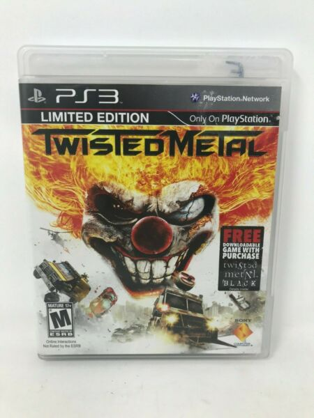Twisted Metal PS3 PlayStation 3 Complete w Manual Case and CLEAN Disc