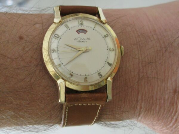 Jaeger LeCoultre 481 17 jewels bumper automatic Watch solid 14 k for US market $1150.00