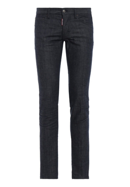 DSQUARED² Men Cool Guy 24 7 Star Logo Patch Slim Dark Blue Jeans NEW NWT $245.00