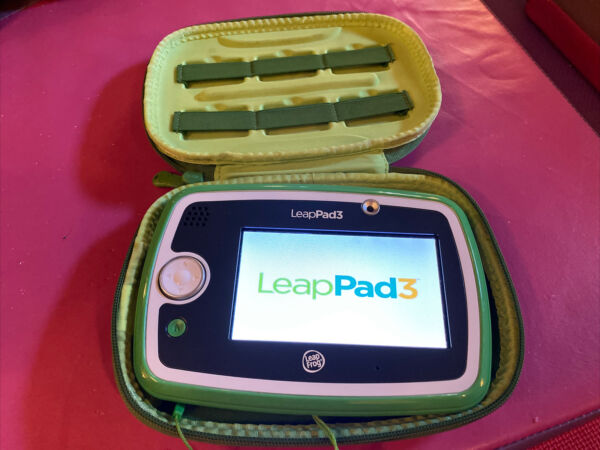 LeapFrog Green LeapPad 3 System Tablet Tested Reset with Stylus Carrying Case $29.99
