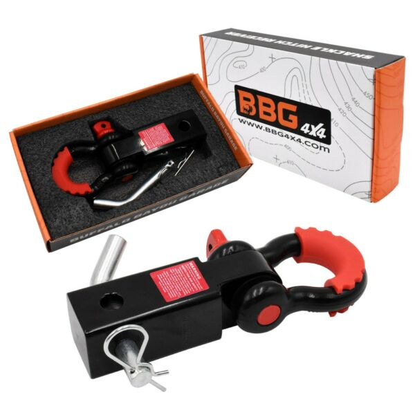 BBG4x4 Hitch Receiver Shackle 2 inch with D Ring $31.99