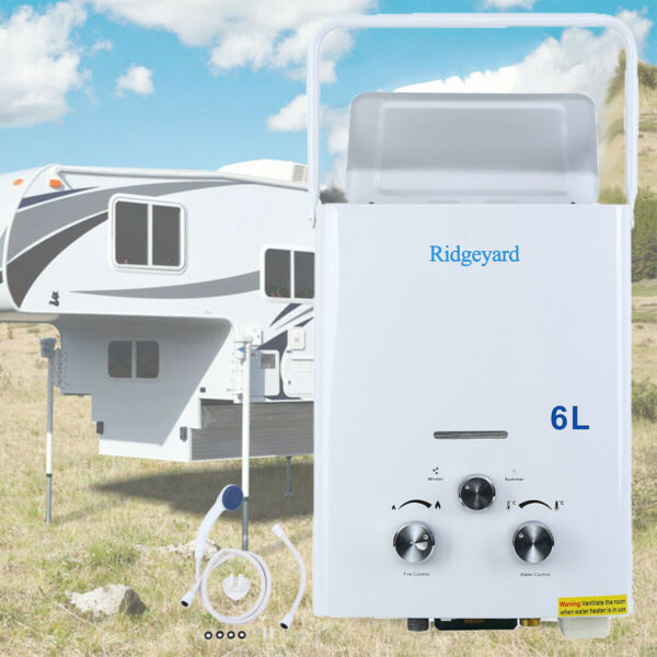 LPG Propane Gas 6L Hot Water Heater Tankless Instant Boiler Outdoor RV Portable $73.23