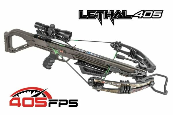 KILLER INSTINCT LETHAL 405 SCOPE PACKAGE with BONUS 6 Rage Trypan Broadheads
