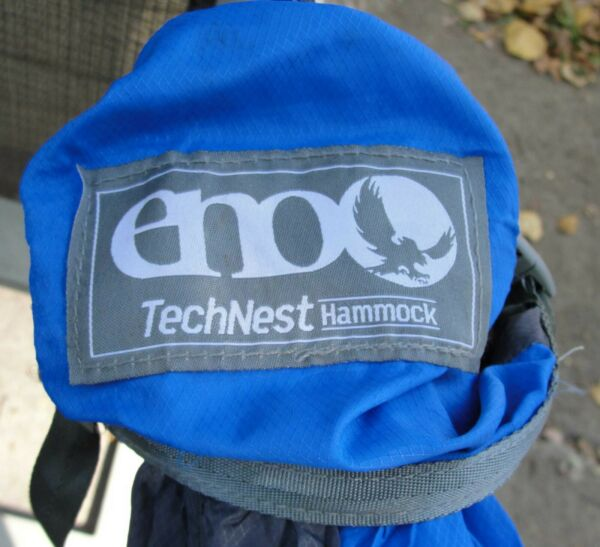 ENO Technest Hammock royal blue charcoal gray $43.95