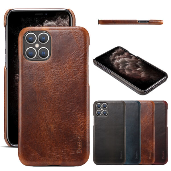 Slim Genuine Leather Back Case Cover Luxury For iPhone 12 Pro Max 12 Pro 12 Mini $13.69