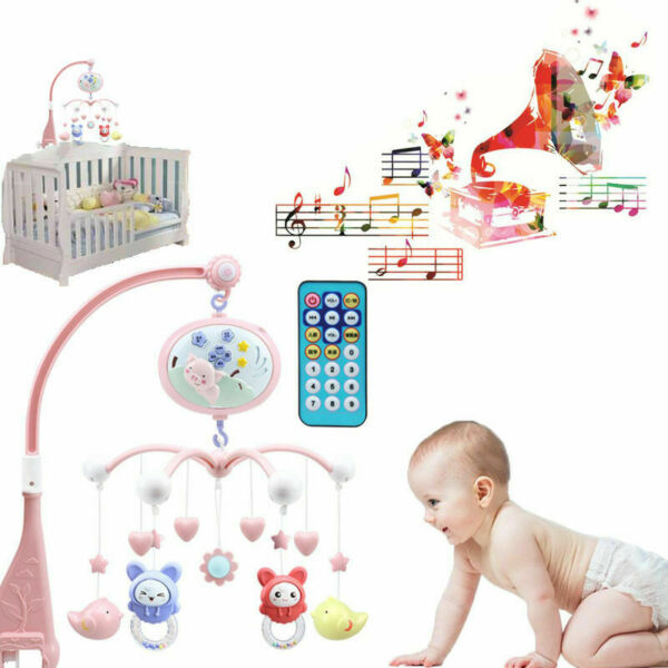 Toddler Baby Mobile Crib Windup Movement Music Machine Toy Stroller Bed Bell USA $21.88