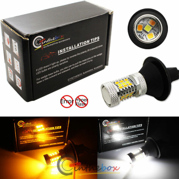 CAN bus 7440 No Hyper Flash Switchback LED Bulbs For Turn Signal Lamps DRL Light
