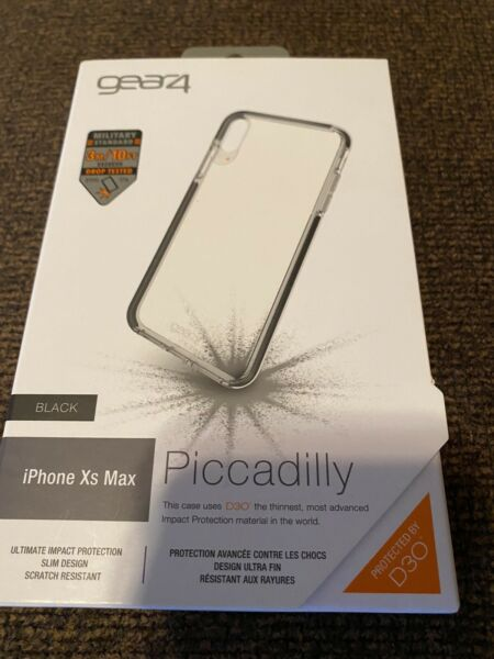 gear4 by ZAGG Piccadilly D3O Military For iPhone XS Max 6.5quot; Clear Black NEW