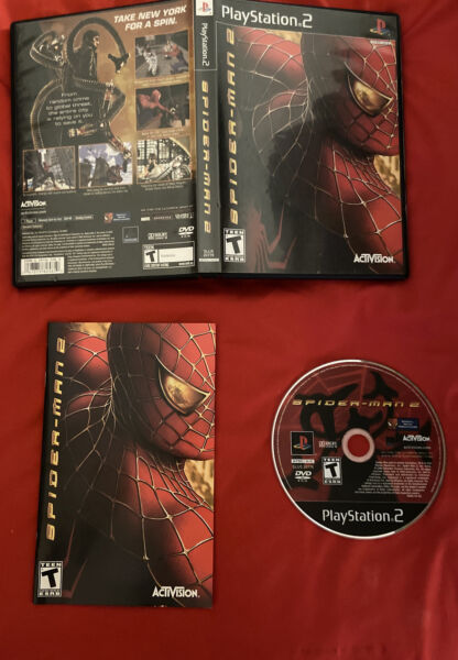 Spiderman 2 PS2 Playstation 2 Game Works Great Complete Box W Manual TESTED $14.49