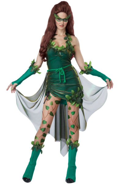 Sexy Lethal Beauty Poison Ivy Batman amp; Robin Adult Women Costume $47.35