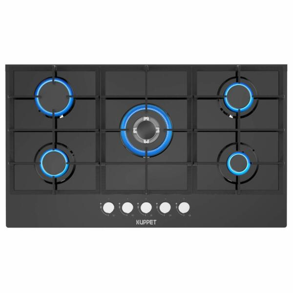 36quot; Built in Gas Cooktop KUPPET QB5903 Gas Stove with 5 Booster Burners Black