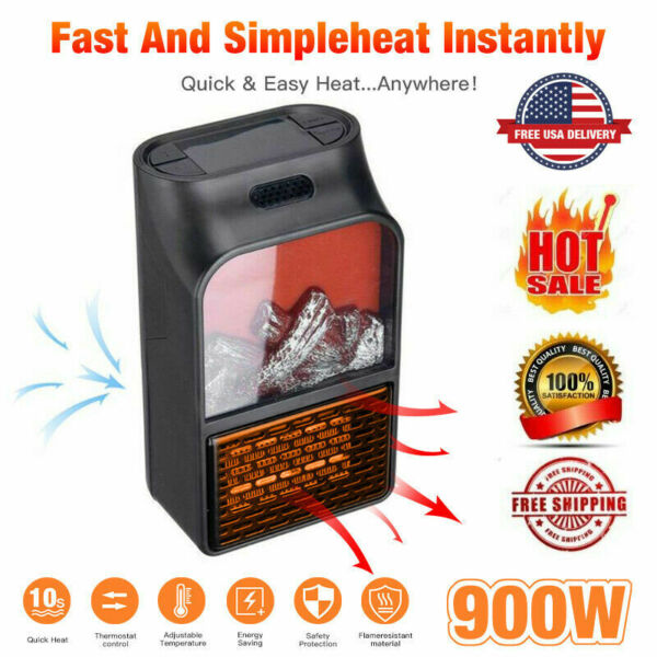 Flame Heater Home Mini Small Heater Office Dormitory Multi Function Heater $20.99