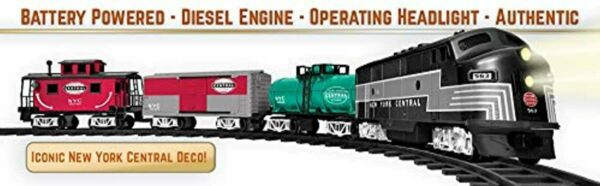 Lionel New York Central Model Train Set with Remote Battery Powered Kids Toy New $148.43