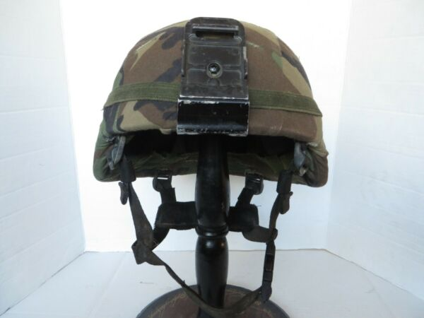 Early MICH Helmet MSA size L Gallet TC 2000 NV mount Woodland camo cover $289.95