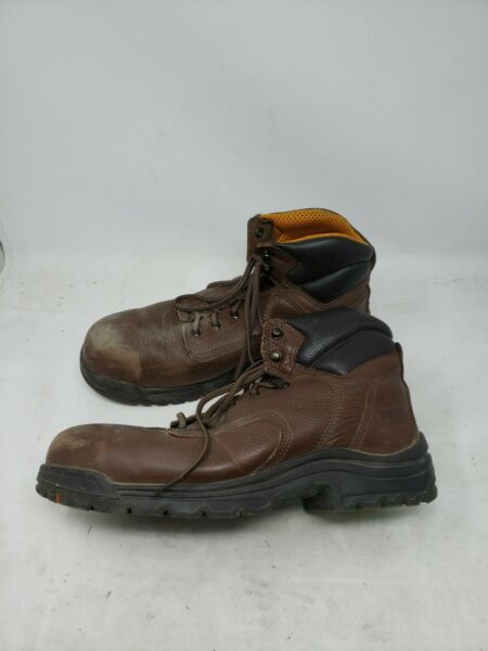 Timberland PRO TITAN Mens Leather Safety Toe Work Boots Size 12W 26063 W882 $59.99