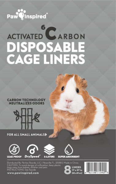 Paw Inspired Guinea Pig Cage Habitat Liners Beddings Disposable for Small Animal $22.99