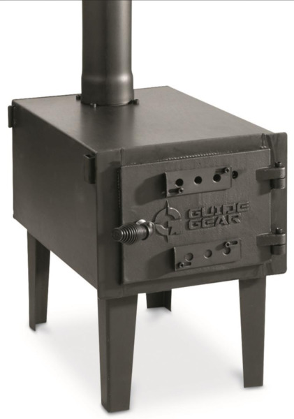 GUIDE GEAR Outdoor Wood Stove Adjustable Air Vent Camp Warmer Coffee Sauce Pans $164.99