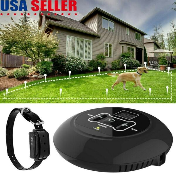 Wireless Electric Fence Containment System Rechargable Pet Dog Collar Waterproof $37.99