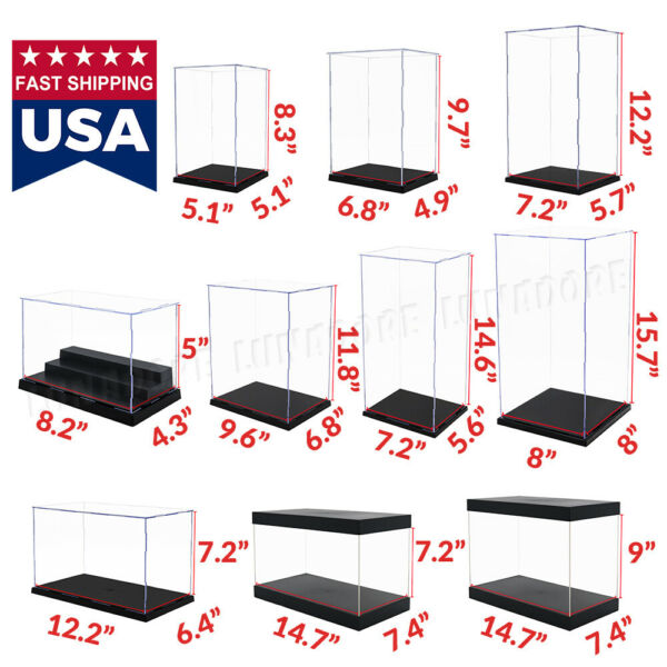 Acrylic Display Case Collectibles Large Box Dustproof Diecast 1 24 1 6 Figure US