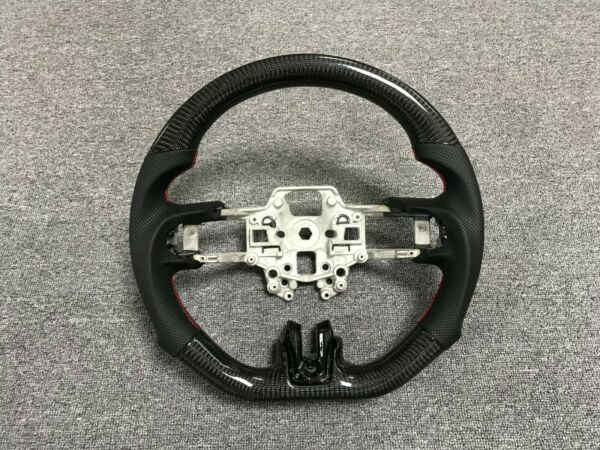 For Ford Mustang Carbon Fiber Steering Wheel Real Carbon Gloss Black Customized $589.00