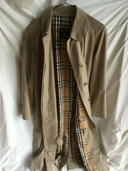 Burberry Women#x27;s Beige Full Length Rain Coat with Nova Check Lining SHIPS FAST $128.88