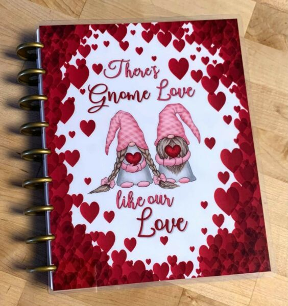 Valentine Gnomes in Love Cover Set 4 use with the Happy Planner $13.96