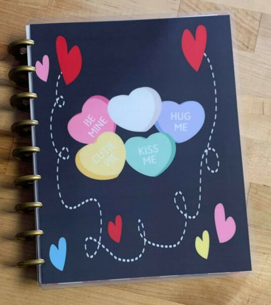 Valentine Conversation Hearts Love Cover Set 4 use with the Happy Planner $13.96