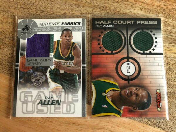Ray Allen 2 card insert lot Rare serial numbered card from 2006 Celtics Buck $19.00