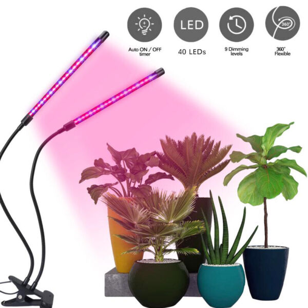 Growing Lamp LED Grow Light Plant Indoor Plants Hydroponics Timing Dimming New $22.99