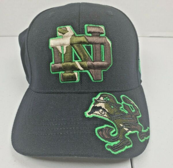 Notre Dame Top Of The World Hat Fexfit Cap Camo Camouflage $14.99