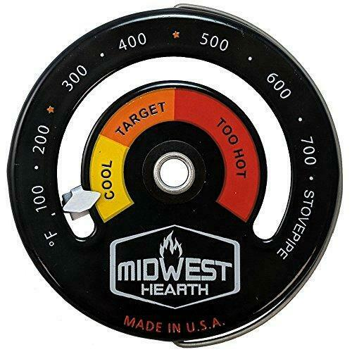 Midwest Hearth Wood Stove Thermometer Magnetic Chimney Pipe Meter $31.69