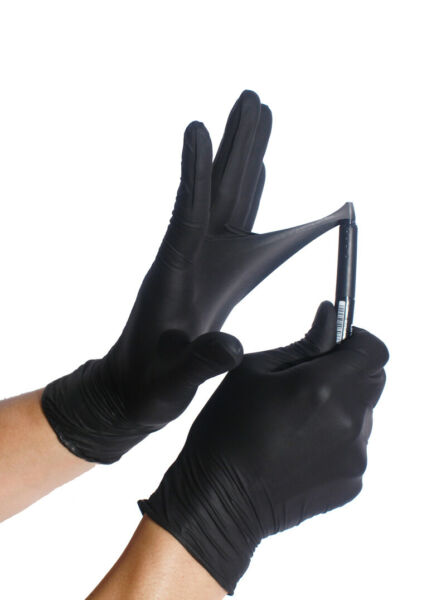 BLACK Nitrile Gloves ULTRA DURABLE S M L XL Powder free 50 100 1000 Case