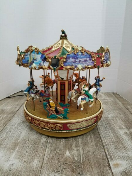Mr. Christmas THE CAROUSEL Village Square 30 Songs Lighted 1997 Rare 🎄