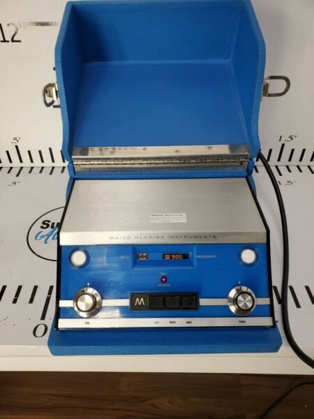 Audiometer Hearing Tester Maico Instruments MA 19 w Headphones Portable Lab #3