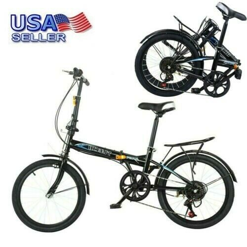20quot; Folding 7 Speed ​​City Compact Suspension Bike Bicycle Urban Commuters $142.49