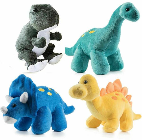 Plush Dinosaurs 4 Pack 10#x27;#x27; Long Great Gift for Kids Stuffed Animal Combo Pack