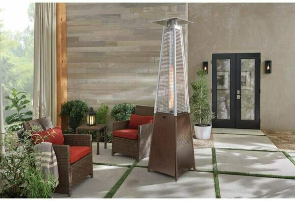 HAMPTON BAY Pyramid Propane Patio Heater 42000 BTU Gas Outdoor Space SHIPS FREE