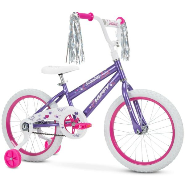 Huffy 18quot; Sea Star Girls Bike for Kids 5 to 9 yrs Rider Ht 44 to 56 in Purple $74.99