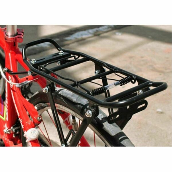 Back Rear Bicycle Rack Adjustable Bike Cycling Cargo Luggage Carrier Rack Black $26.50