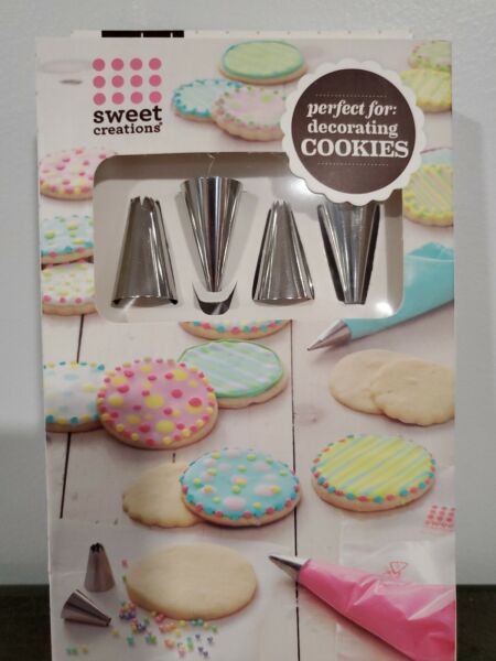12 pc Cake Cupcakes Cookie Decorating Set 4 tips and 8 disposable bags $8.39
