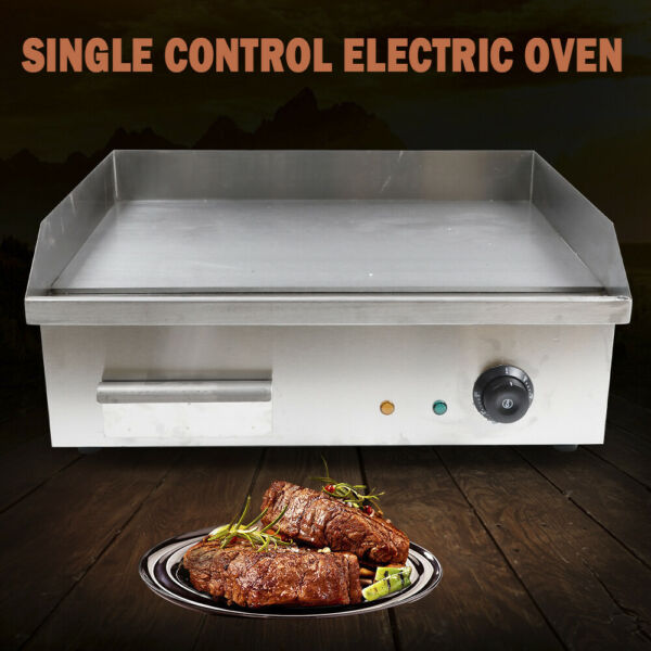 3000W 22quot; Electric Countertop Flat Top Griddle Non Stick 304 Stainless Steel US
