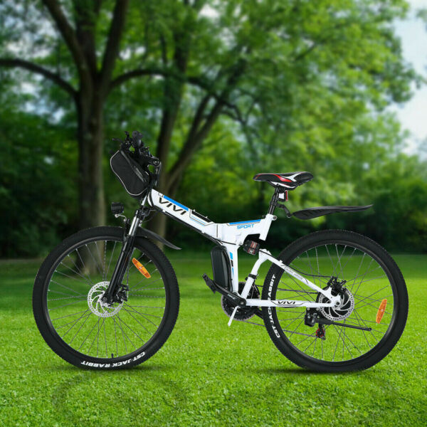 26quot; Folding Electric Mountain Bike for Adults 350W Ebike Bicycle 21 Speed Gear . $615.99