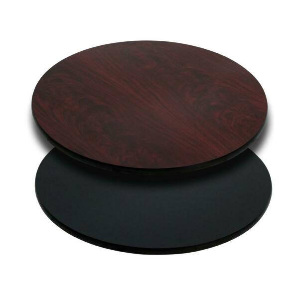 30#x27;#x27; Round Table Top with Black or Mahogany Reversible Laminate Top