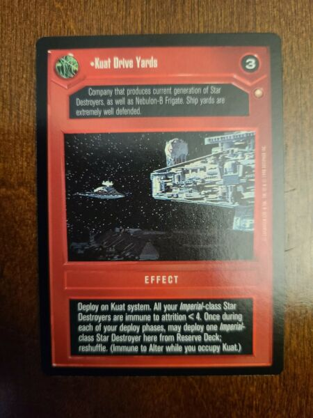 Star Wars CCG SWCCG Kuat Drive Yards Special Edition Rare Card Collection $5.75