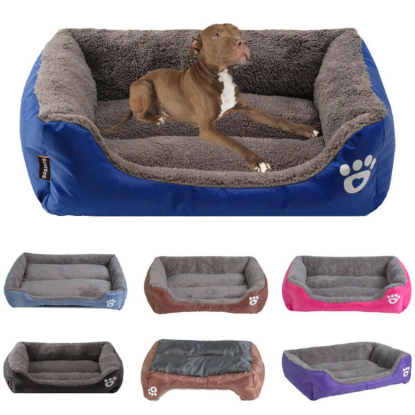 Pet Dog Bed for Small Large Dogs Waterproof Bottom Dog Sofa Bed Soft Cat Cushion $44.99